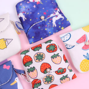 Sanitary Pad Organizer Pouch - Pineapple & Watermelon